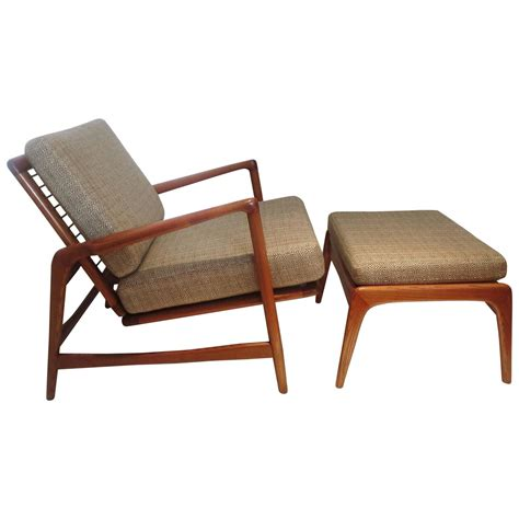 reclining club chair and ottoman danish modern reclining lounge chair multipositions and