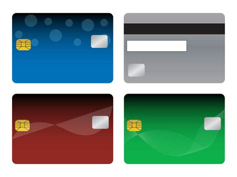 Blank Credit Card Template Vector Bank Cards Templates Vector Graphics Freevector