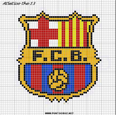 imagen en punto en cruz el escudo de emelec dibujos de barcelona para punto cruz punto de cruz