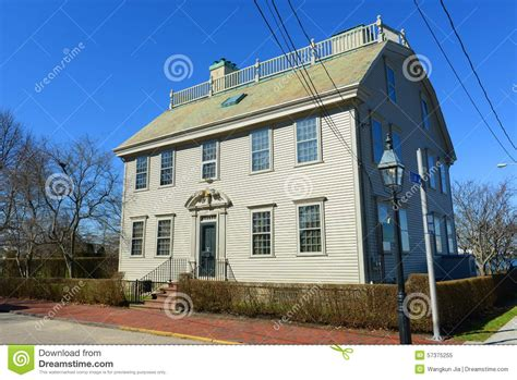 hunter house hunter house rhode island usa stock photo image 57375255