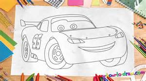 Lightning Mcqueen Drawing How To Draw Lightning Mcqueen Easy Step By Step Drawing