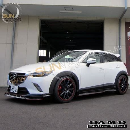 2015+ cx 3 damd side skirt extension splitters | sun vigor
