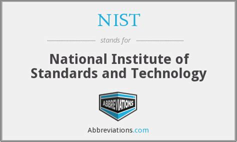 Institute Of Technology Mba Requirements by Nist National Institute Of Standards And Technology