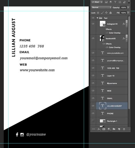 Minimalist Business Cards Template by Premade Business Card Template Name Card Template
