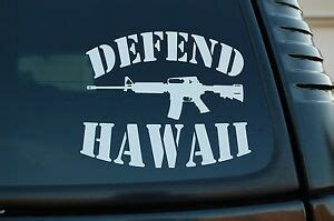 Defend Hawaii Sticker
