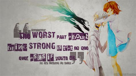 Wallpaper Anime With Quotes | accelerator anime quotes wallpaper by azizkeybackspace