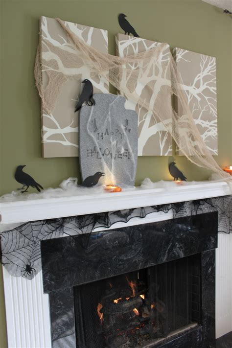 freaky ideas for the bedroom ideas spooky mantel design ideas with halloween theme to