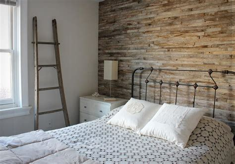 Wooden Wall Bedroom | explore a stripped back vintage home decorator s notebook