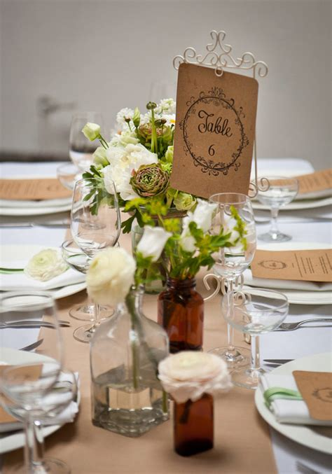 simple wedding table decor ideas rustic wedding decor ideas easy rustic wedding table from one fab day onefabday