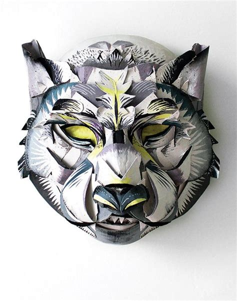 Papercraft Wolf Mask - oakley papercraft and wolves on