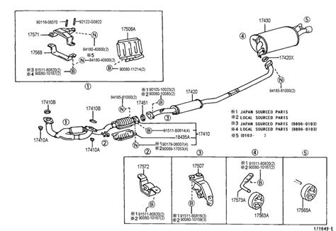 1999 toyota camry exhaust system diagram toyota camry 1999 exhaust