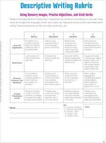writing descriptions template grade 5 descriptive writing rubric search