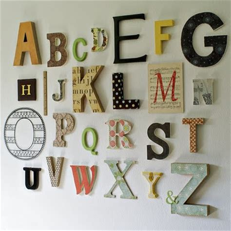 Alphabet Decor custom nursery by alphabet