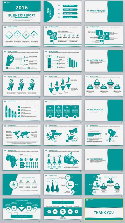 27 business report professional powerpoint template the