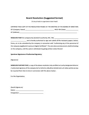 53 Printable Board Resolution Sle Forms And Templates Fillable Sles In Pdf Word To Resolution Template Word