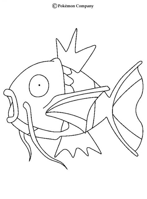 pokemon coloring pages magikarp magikarp coloring pages hellokids com