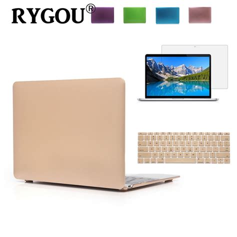 Limited Macbook Air 13 Green Metallic rygou luxury gold silver metallic color finish matte for macbook air 11 13 inch laptop