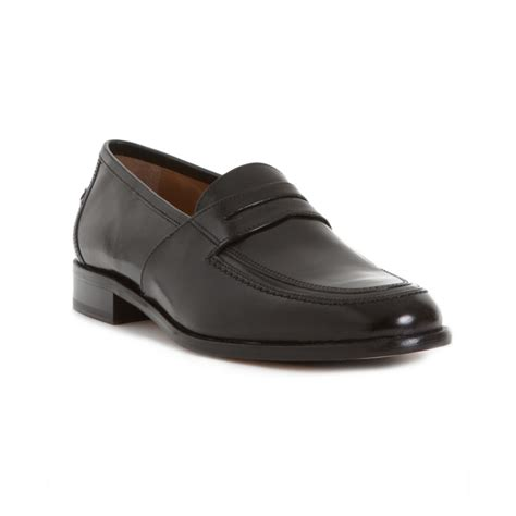 black loafers for johnston murphy vauter loafers in black for lyst