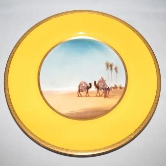 royal doulton hand painted middle east plate (allen