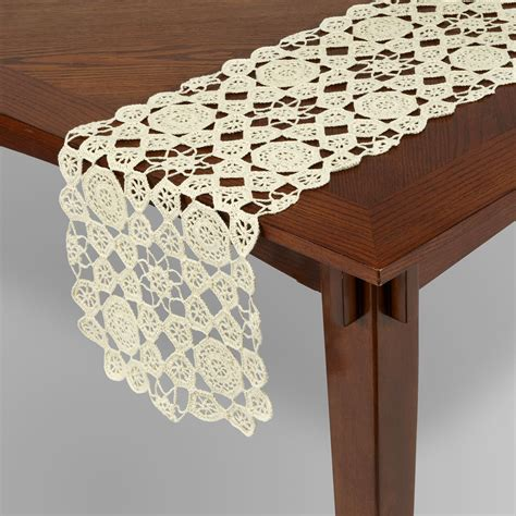 essential home crochet table runner home dining