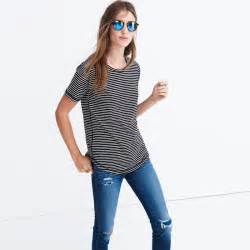 madewell whisper cotton in hardy stripe shop