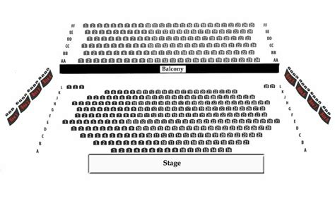 st george bank auditorium floor royal george theatre main stage seating chart theatre in