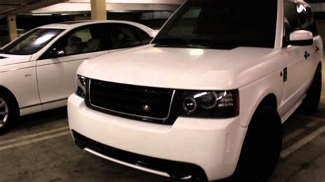 white wrapped range rover project range rover customied wrapped in satin white by