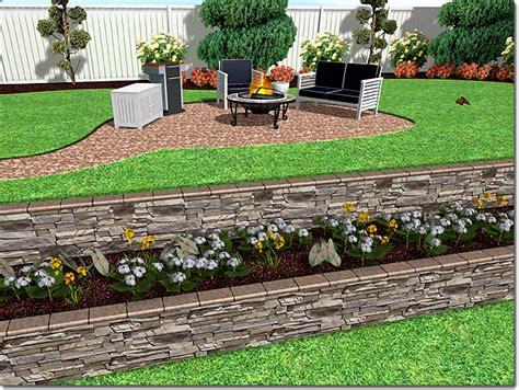 Landscape Design Software Retaining Walls Adding A Retaining Wall