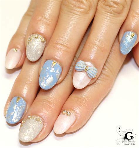 nail art ribbon design tutorial blue ribbon nail nailart nail art designs pinterest