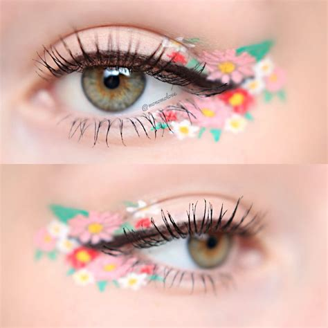 Eyeliner Flower floral eyeliner is the newest makeup trend you ll be obsessed with