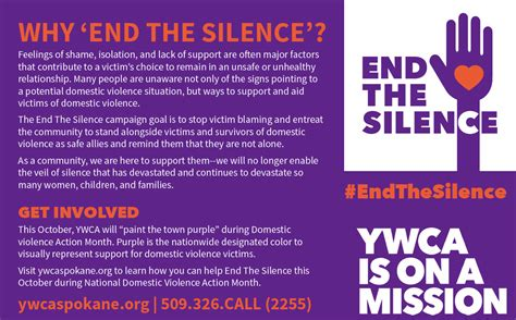 why so many domestic violence survivors dont get help end the silence with domestic violence ywca spokane