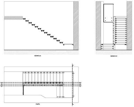 scale per interni dwg scale in acciaio e vetro