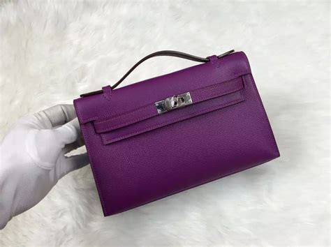 Blackkelly Bag Lsc 787 new fashion bag hermes mini bag p9 anemone purple epsom leather tote bag hermes