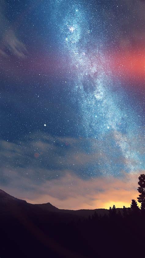 wonderful tonight space star sunset mountain flare