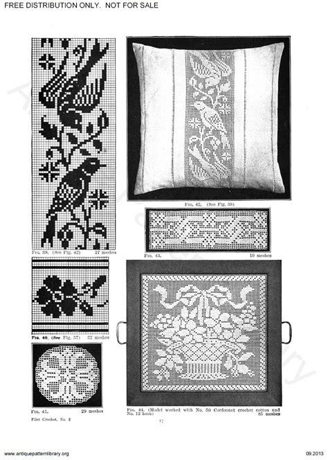 antique pattern library priscilla apl 6 ja018 the priscilla filet crochet book no 2 page 18