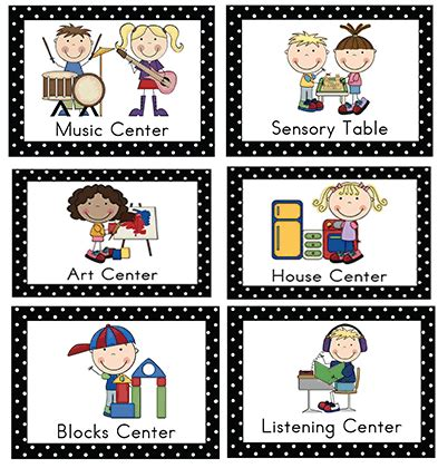 printable interest area signs center signs center signs preschool learning centers