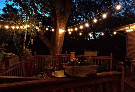 patio lights string how to string patio lights how to hang patio string