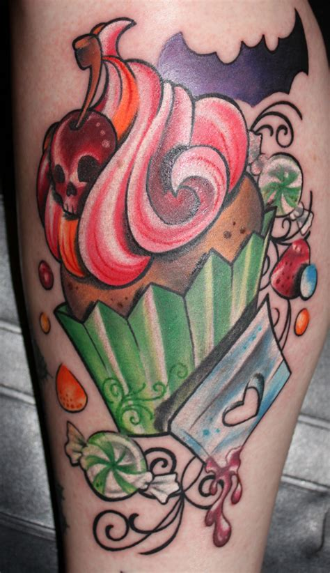 candy and cupcake tattoo designs rockabilly sugar skull rockabelle bombshell