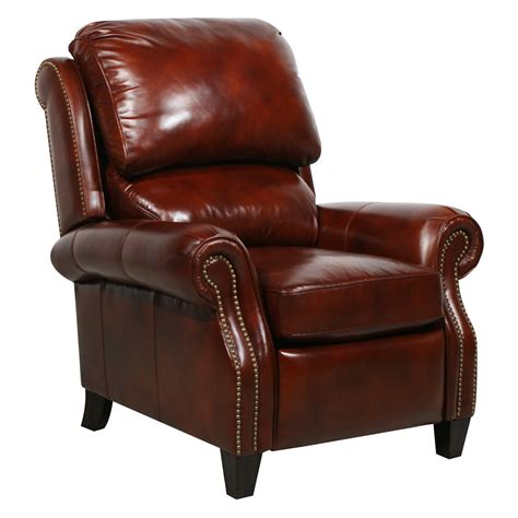 barcalounger recliner barcalounger churchill ii leather recliner with nailheads