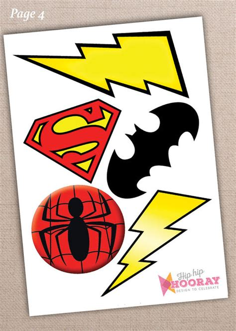 printable photo booth props superhero printable superhero photo booth props only 163 3 00