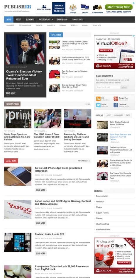 wordpress themes publishing house publisher wordpress theme themejunkie get 30 off review