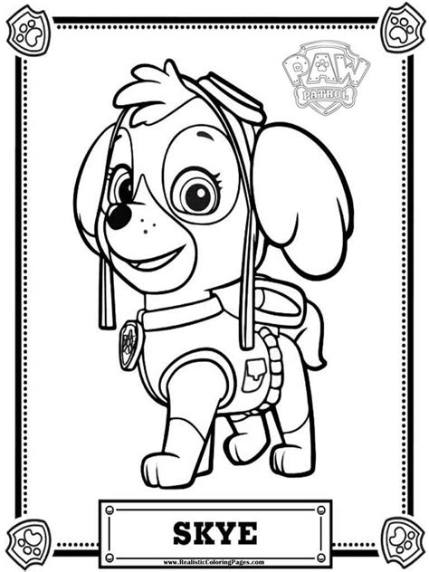 printable paw patrol coloring pages paw patrol coloring pages realistic coloring pages