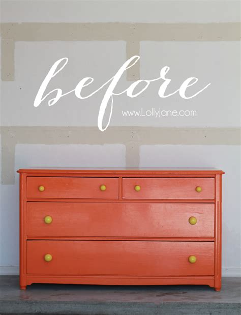 chalk paint gloss finish glossy dresser makeover lolly