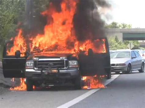 pickup catches fire on u.s. 340 youtube