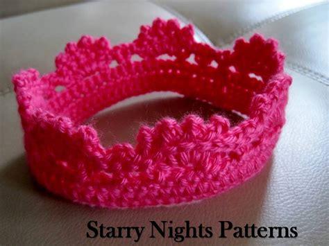 free crochet pattern for baby tiara crochet princess and prince crown ii baby headband crown