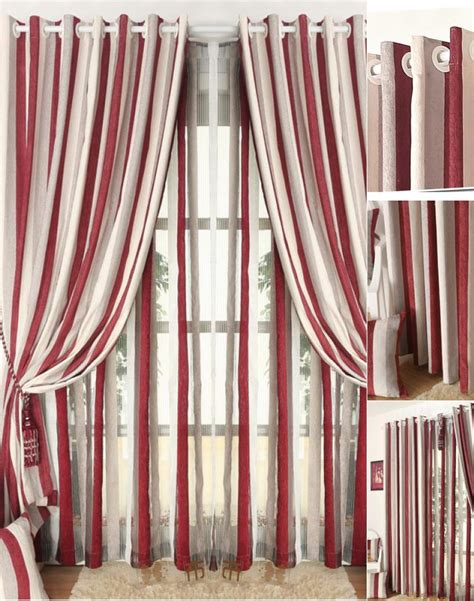 striped bedroom curtains simple chenille red white striped curtain for bedroom