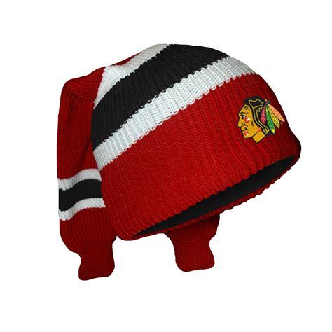 chicago blackhawks knit hat chicago blackhawks hockey sockey reversible knit hat