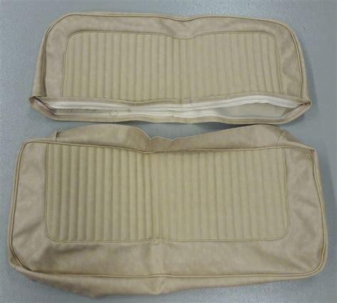 bronco seat covers rear seat cover light parchment w rosette broncograveyard