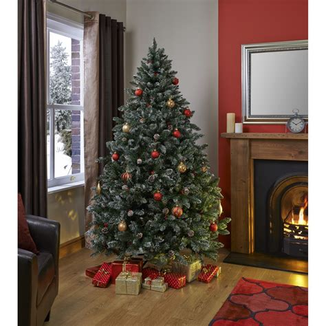 oxford 6 5ft berry and cone christmas tree