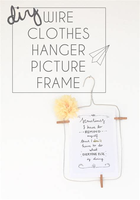 How To Put Wire Hanger On Picture Frame turn a wire clothes hanger into a picture frame